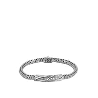 John Hardy Lahar Sterling Silver 5mm Diamond Station Bracelet