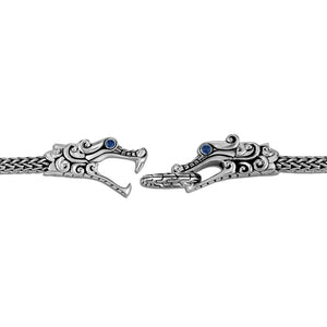 John Hardy Legends Naga Sterling Silver Double Dragon Head Station Bracelet