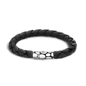 John Hardy Men's Kali Black Leather Bracelet