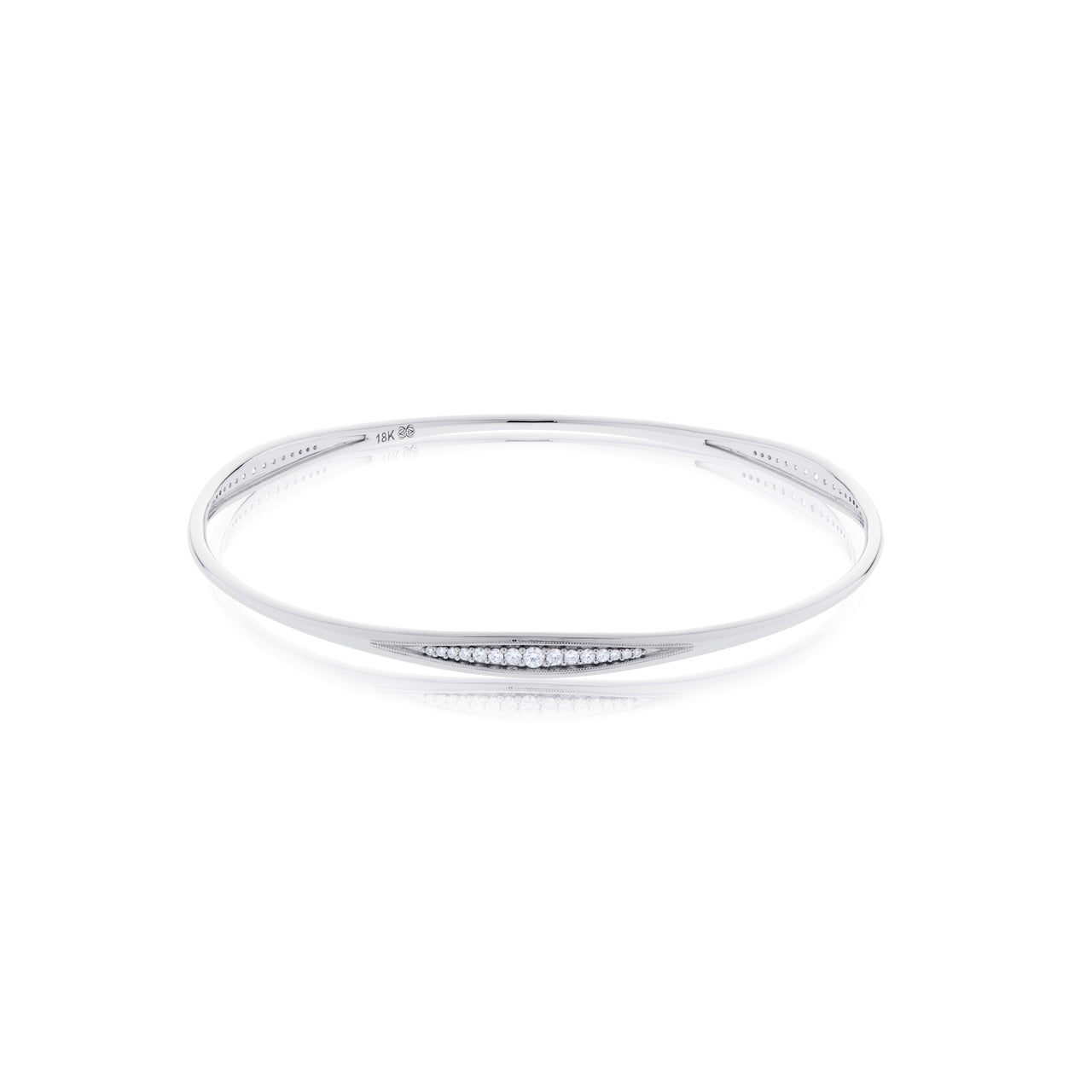 Devotion Pas de Trois 18K White Gold Diamond Channel Stacking Bangle