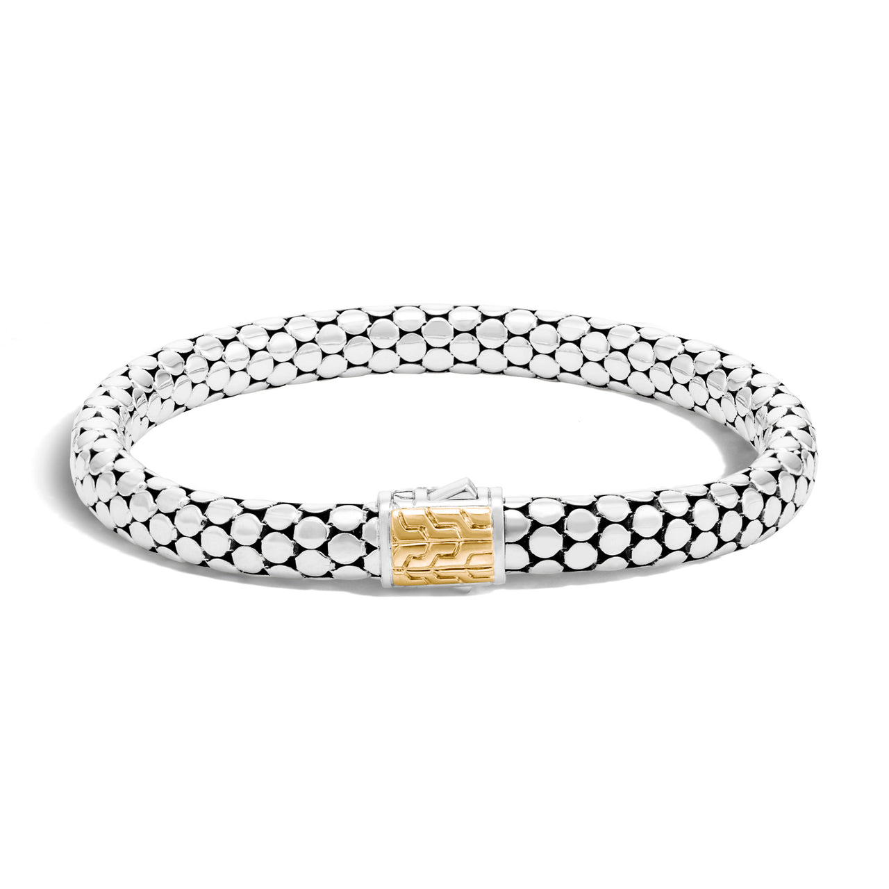 John Hardy Dot 18K Yellow Gold and Sterling Silver 6.5mm Bracelet