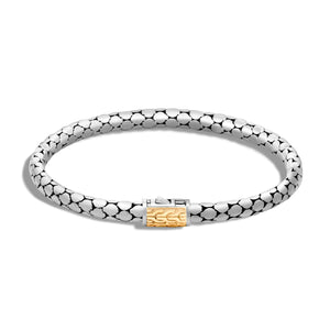 John Hardy Dot 18K Yellow Gold and Sterling Silver 4.2mm Bracelet