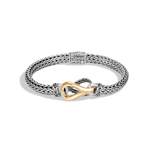John Hardy Classic Chain Sterling Silver and 18K Yellow Gold Asli Chain Link Station Bracelet