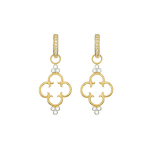 Jude Frances Provence 18K Yellow Gold Clover Diamond Trio Earring Charms