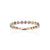 Load image into Gallery viewer, Sabel Collection 14K Yellow Gold Bezel Set Rainbow Sapphire Stacking Ring
