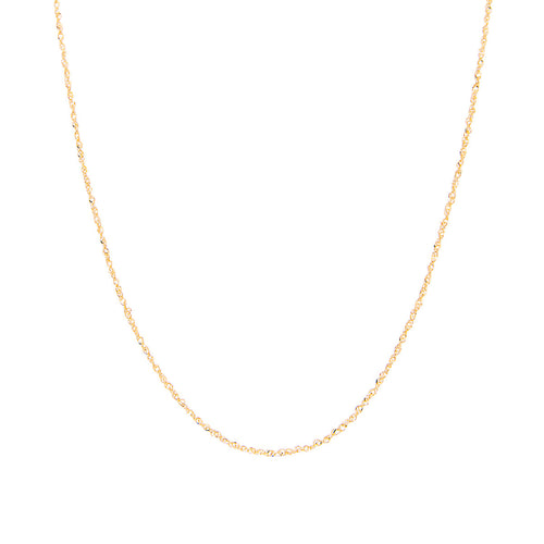 Fink's Jewelers 14K Gold 1.25mm Singapore Sparkle Chain Necklace