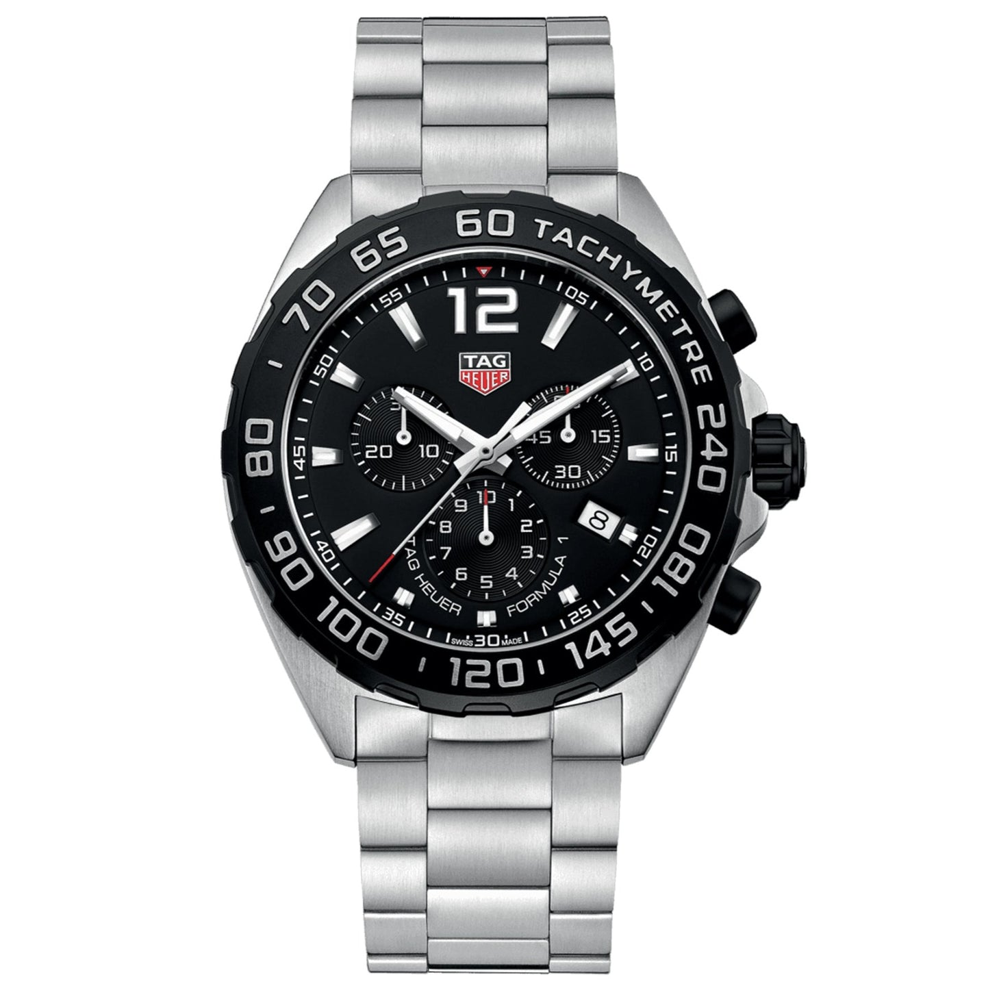 TAG Heuer Men's Formula 1 Chronograph Black Dial and Black Bezel Watch