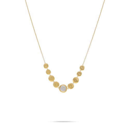 Marco Bicego Jaipur 18K Yellow Gold Diamond Station Necklace