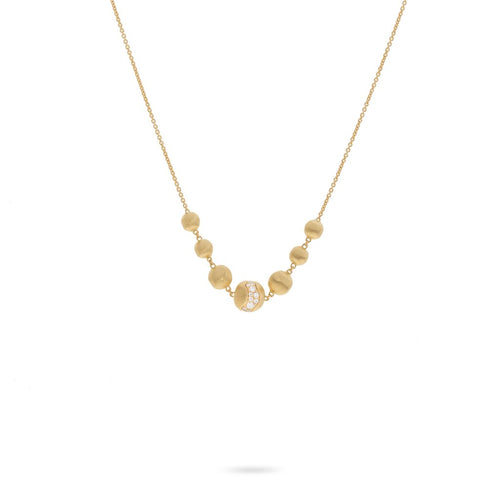Marco Bicego Africa 18K Yellow Gold and Diamond Necklace