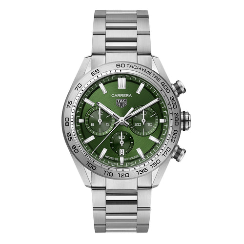 TAG Heuer Carrera Men's Automatic Sport Chronograph 44mm Green Dial Watch