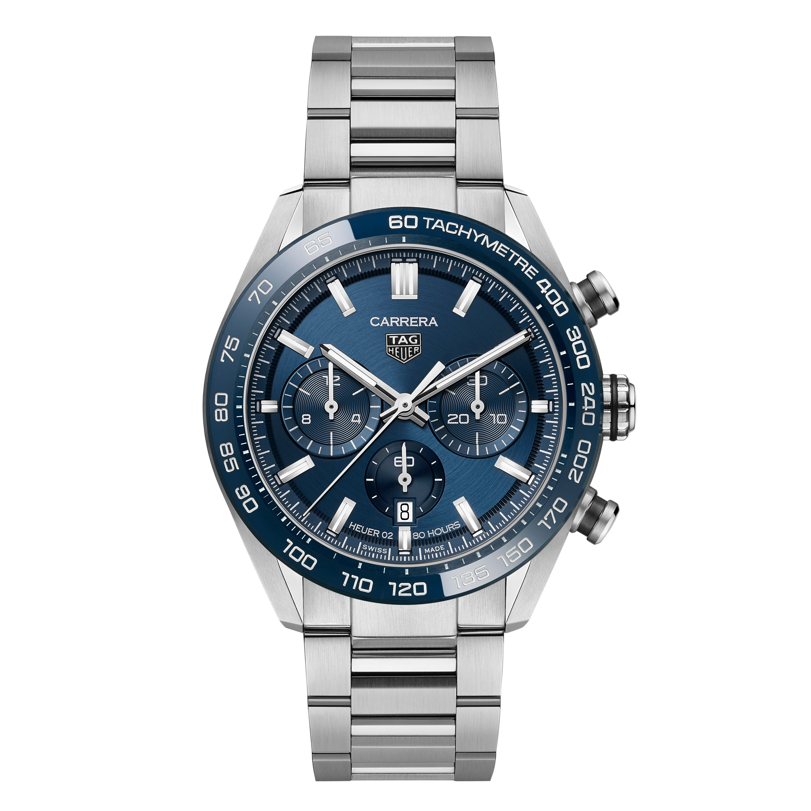 TAG Heuer Carrera Men's Automatic Sports Chronograph 44mm Blue Dial Watch