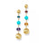 Load image into Gallery viewer, Marco Bicego Africa 18K Yellow Gold Turquoise and Mixed Gemstone Drop Earrings