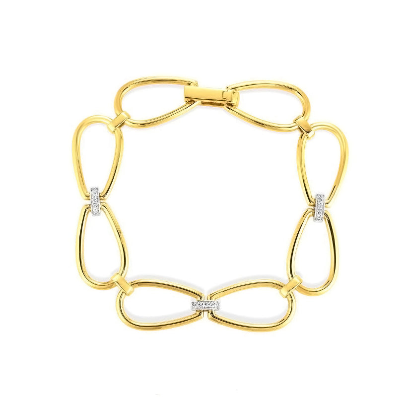 Roberto Coin Classica Parisienne 18K Yellow Gold Stirrup Link Bracelet
