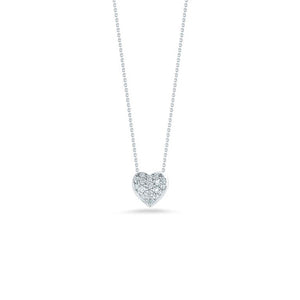 Roberto Coin Tiny Treasures White Gold and Diamond Heart Pendant