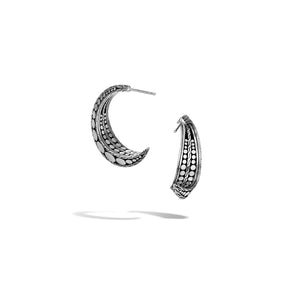 John Hardy Dot Sterling Silver Small J Hoop Earrings