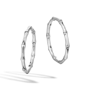 John Hardy Bamboo Closure Hoop Earrings