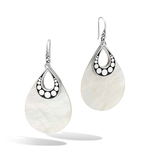 John Hardy Dot Sterling Silver Teardrop Earring with Mother-of-Pearl