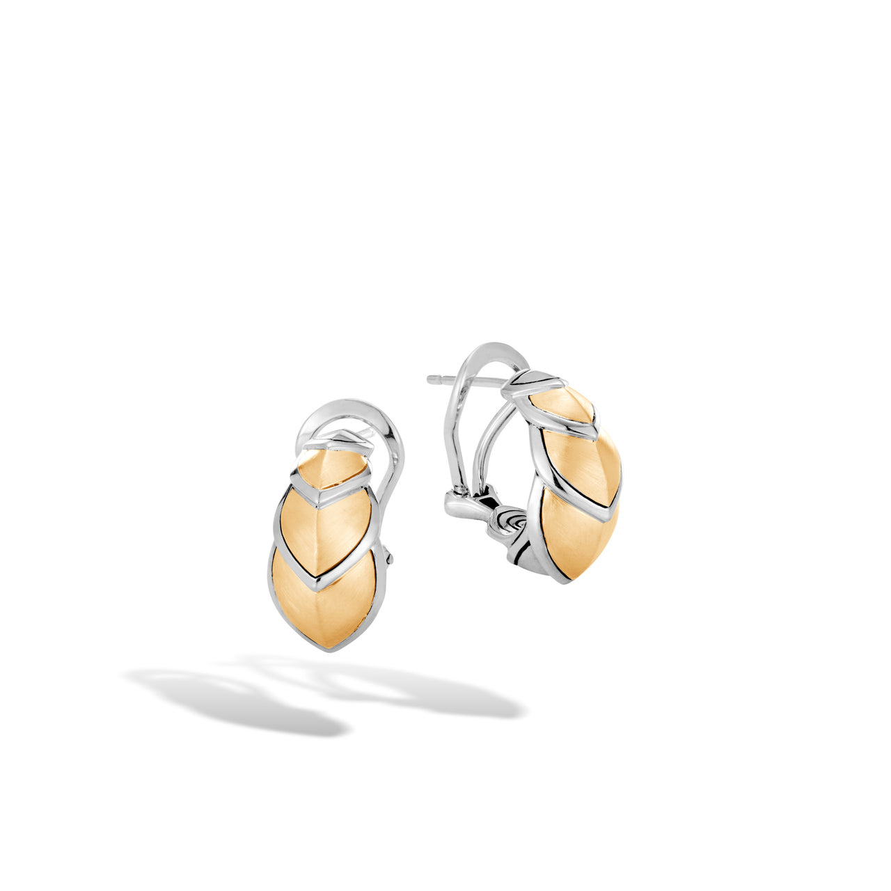 John Hardy Legends Naga Sterling Silver and Yellow Gold Buddha Belly Earrings