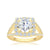 Load image into Gallery viewer, The Studio Collection Round Diamond Cushion Halo Split Shank Engagement Ring