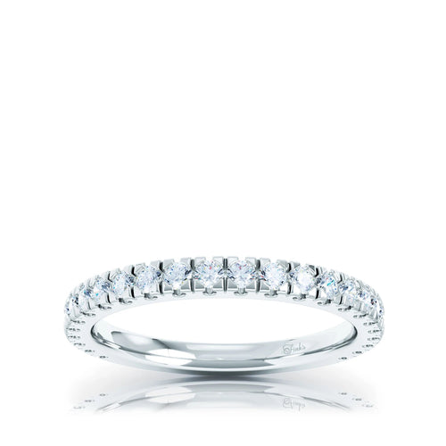 The Studio Collection Prong Set Diamond Half-Way Wedding Band