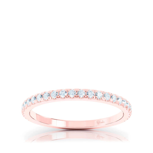 The Studio Collection Rose Gold Prong Set Diamond Half-Way Wedding Band