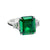 Load image into Gallery viewer, Sabel Collection Platinum Emerald Cut Emerald and Diamond Ring