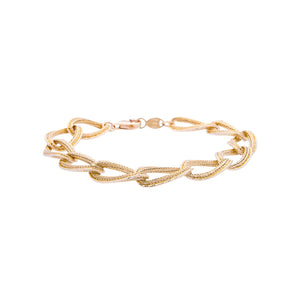Sabel Gold 18K Yellow Gold Link Bracelet