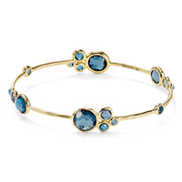 IPPOLITA Lollipop® 18K Yellow Gold Multi-Stone Bangle in Swiss Blue Topaz
