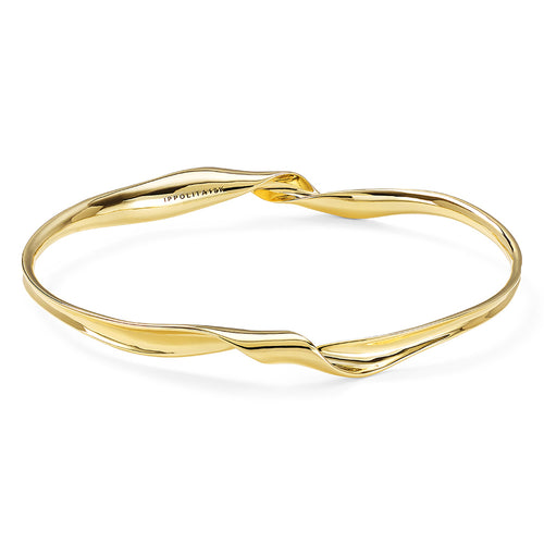 IPPOLITA Classico 18K Yellow Gold Twisted Ribbon Bangle Bracelet