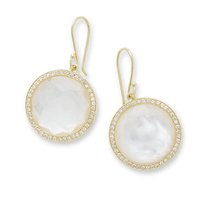 IPPOLITA Lollipop® 18K Yellow Gold Mother-of-Pearl Dangle Earrings with Diamonds