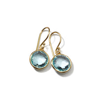 IPPOLITA Rock Candy® 18K Yellow Gold Lollipop Mini Earrings in Blue Topaz