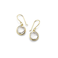 IPPOLITA Rock Candy® 18K Yellow Gold Lollipop Mini Earrings in Clear Quartz