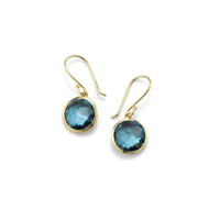 IPPOLITA Rock Candy® 18K Yellow Gold Lollipop Mini Earrings in London Blue Topaz