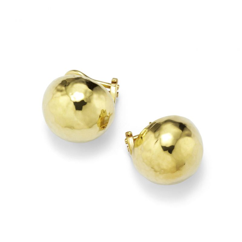 IPPOLITA Classico 18K Yellow Gold Pinball Clipback Earrings