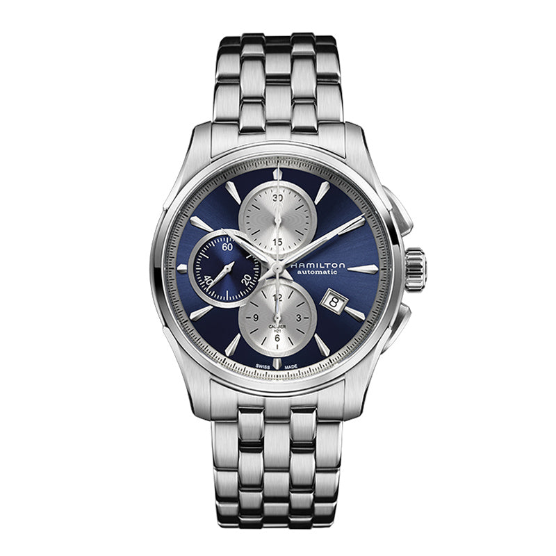 Hamilton Jazzmaster Auto Chrono Extra-Large Blue Dial Watch