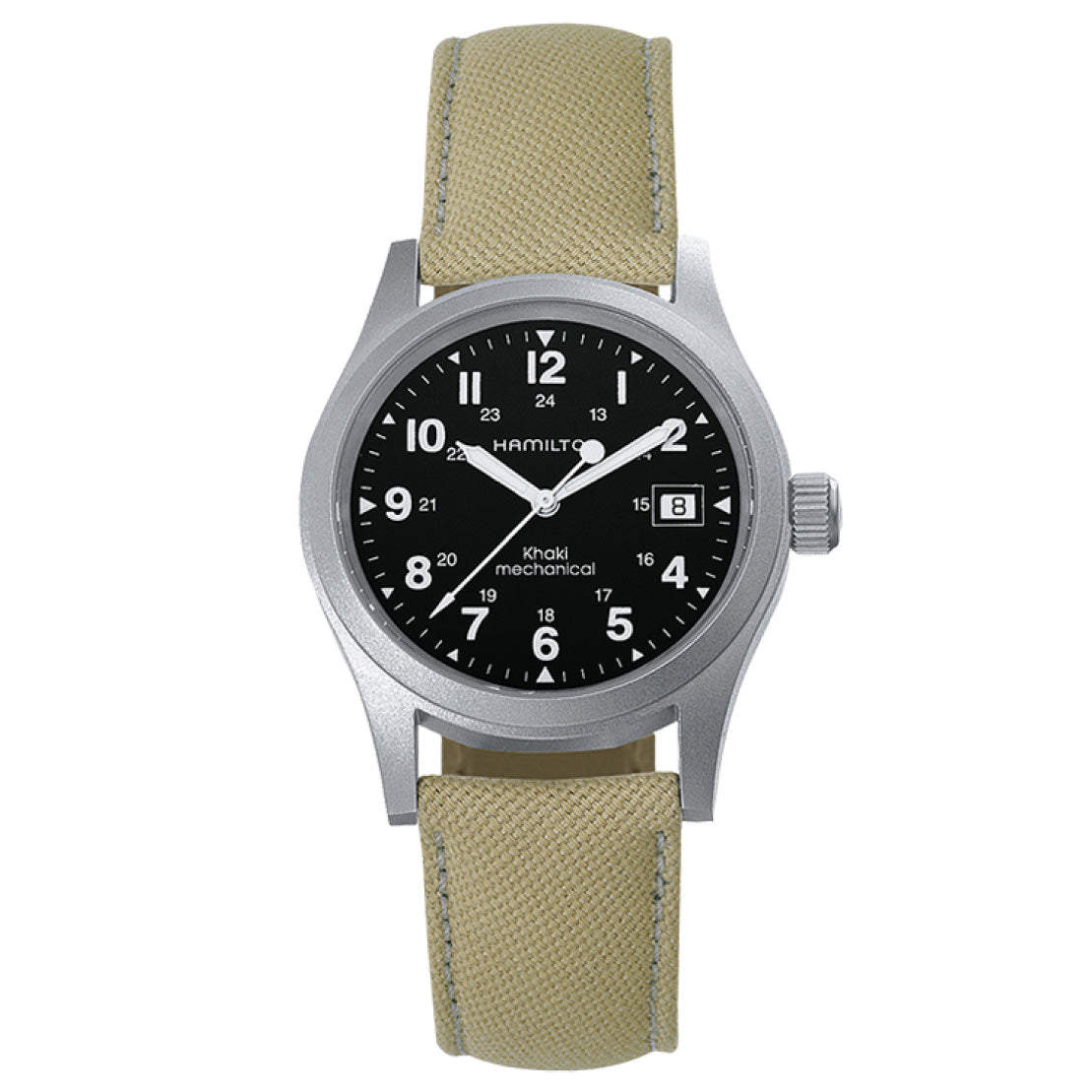 Hamilton Khaki Field Officer Handwinding Black Dial Watch