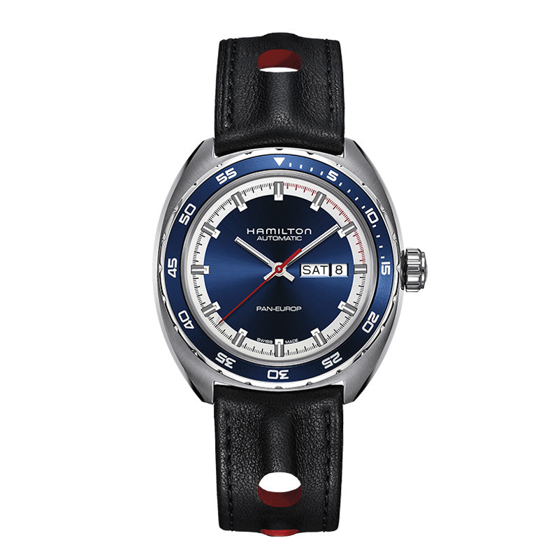 Hamilton Pan Europ Day-Date Auto Blue Dial Watch
