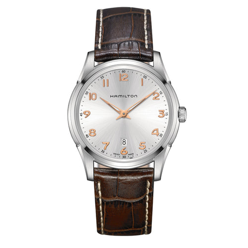 Hamilton Jazzmaster Thinline Quartz Brown Leather Strap Watch