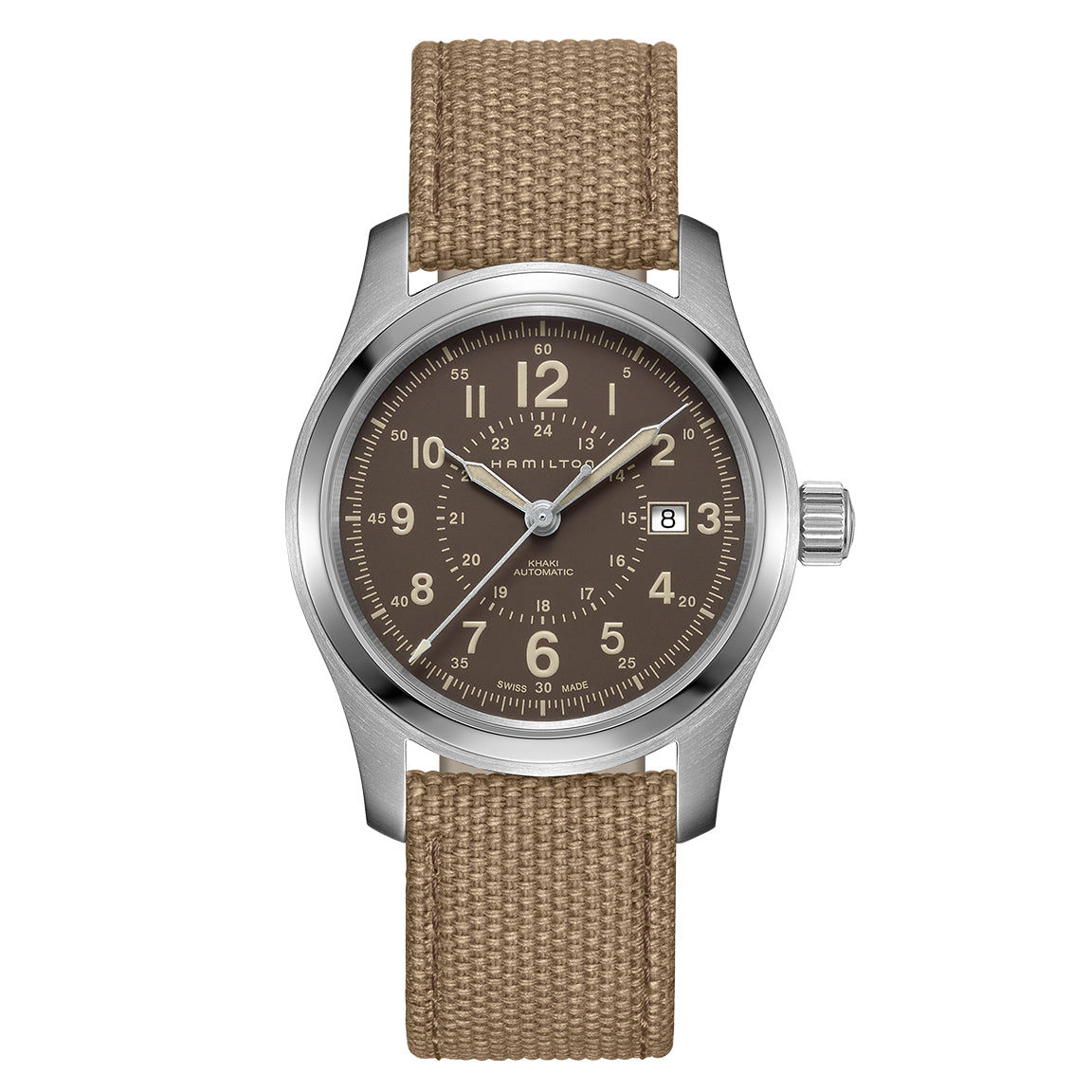 Hamilton Khaki Field Auto Khaki Canvas Strap Watch