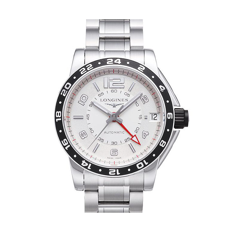 Longines Admiral GMT Collection 42mm Automatic Silver Dial Gent's Watch