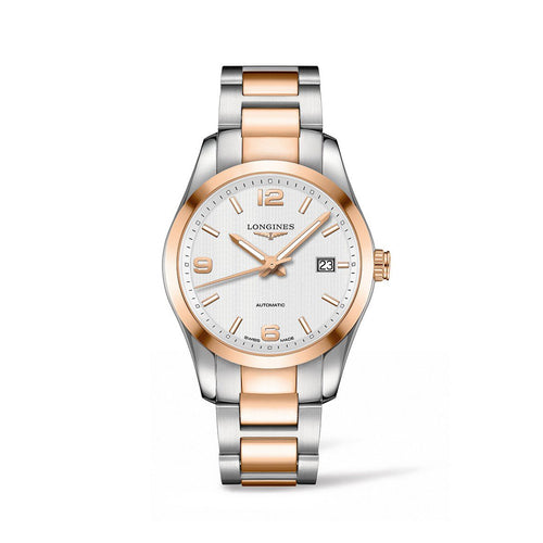Longines Conquest Classic Collection 40mm Stainless Steel and Rose Golden Gent's Watch