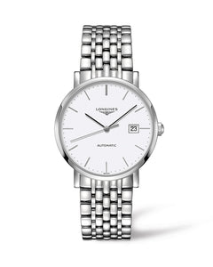 Longines Elegant Collection 39mm Automatic White Dial Gent's Watch