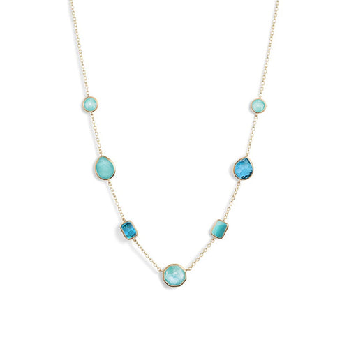 IPPOLITA Rock Candy® 18K Yellow Gold Gemstone Station Necklace in Waterfall