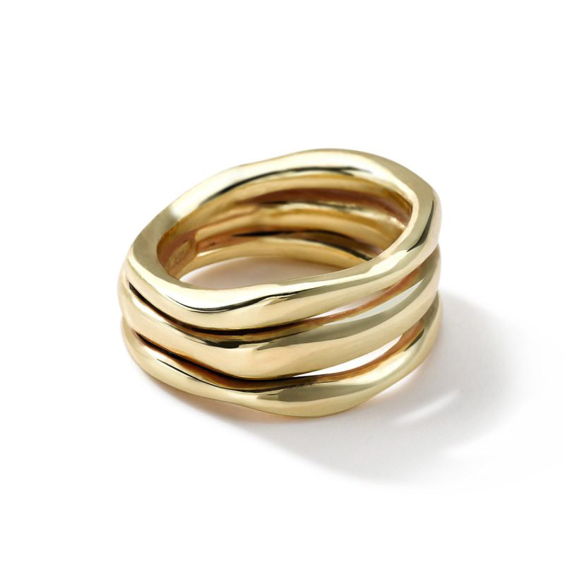 IPPOLITA Classico 18K Yellow Gold Squiggle Multi-Row Ring