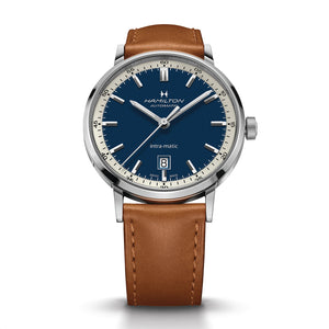 Hamilton American Classic Intra-Matic Auto Watch with Blue Dial