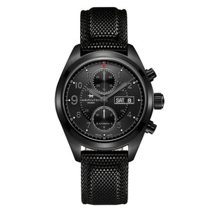 Hamilton Khaki Field Auto Chrono Black on Black Watch