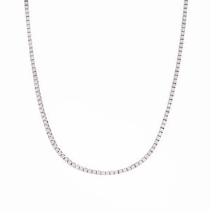 Sabel Collection 18K White Gold Diamond Eternity Choker Necklace