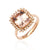 Load image into Gallery viewer, Sabel Collection 14K Rose Gold Cushion Morganite and Diamond Ring