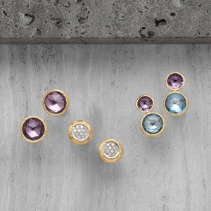 61243c8374ef Marco Bicego Jaipur Color 18K Yellow Gold Amethyst and Blue Topaz Earrings