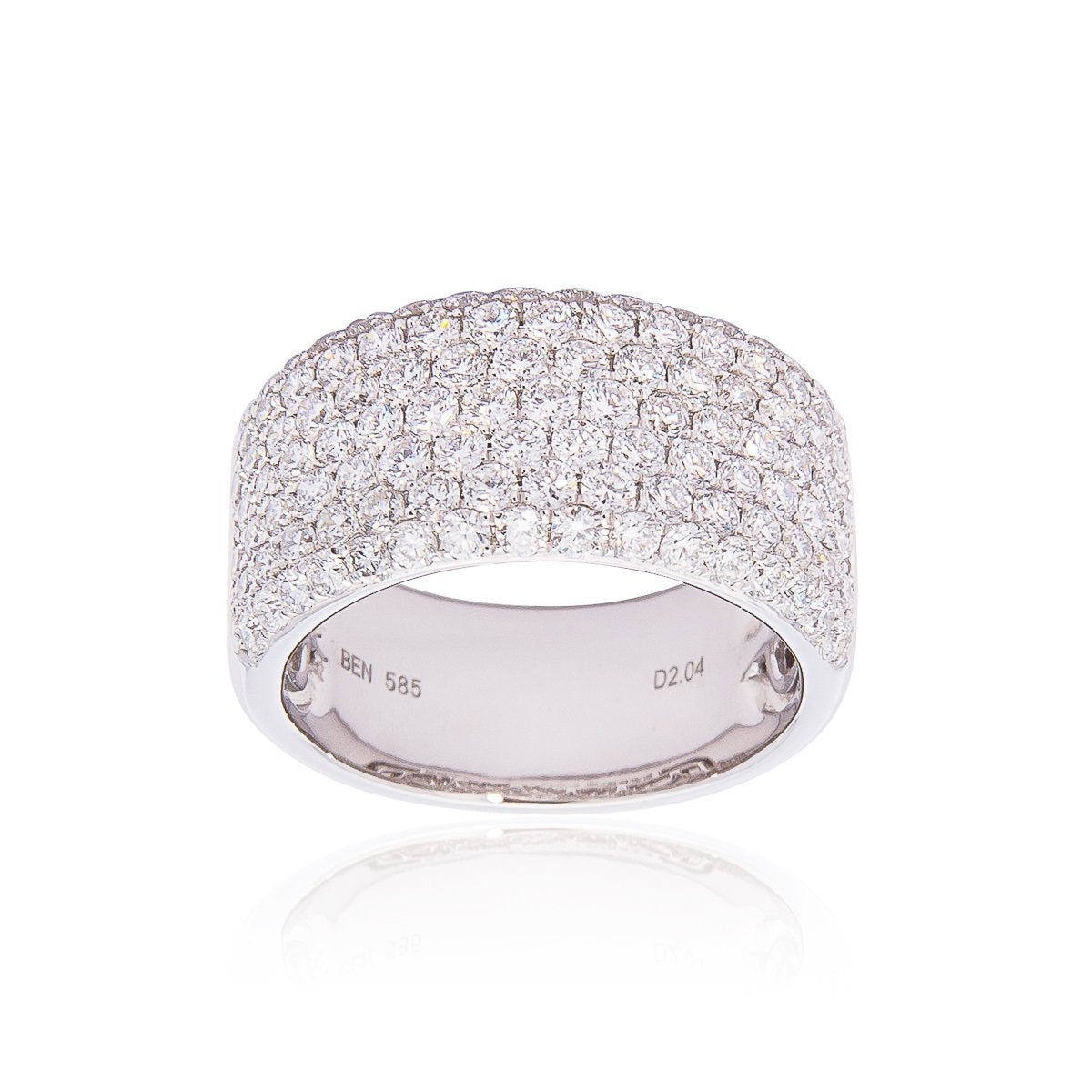 North Hills At Town Center: White Gold 2.04cttw Diamond Multi-Row Ring